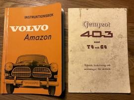 AMAZON/PEUGEOT - INSTRUKTIONSBÖCKER