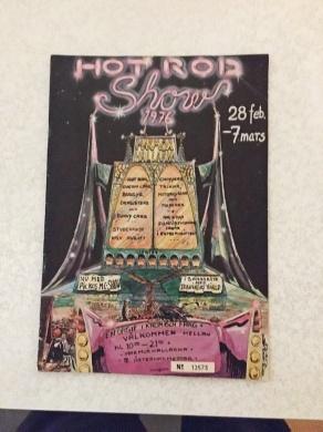 Program för Hot Rod Show 1976 I Marmorhallarna
