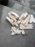 träjärnvägs delar lego korsningar mm trä