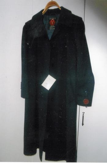 Äkta lodenkappa mörkblå stl C18