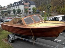 Mahognybåt modell camping