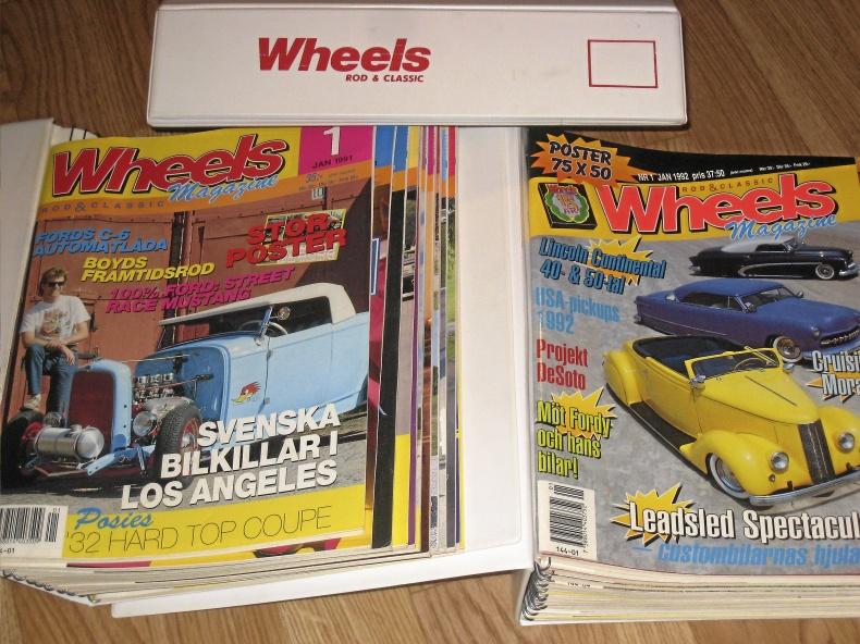 Tidningar: Nostalgia, Wheels, Bilsport Classic