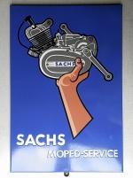 Emaljskylt Sachs Moped-service 50-talet