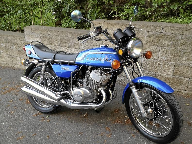 Kawasaki H2 750 tvåtakt 1972-75