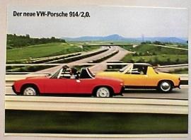 Broschyr Porsche 914 1972