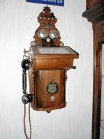 Väggtelefon med unionsvapen