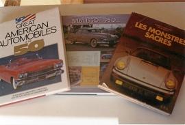 3 st stora veteranbilsböcker