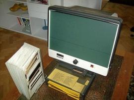 Microfiche läsare med ställ
