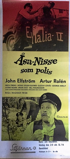 Åsa-Nisse som polis - bioaffisch