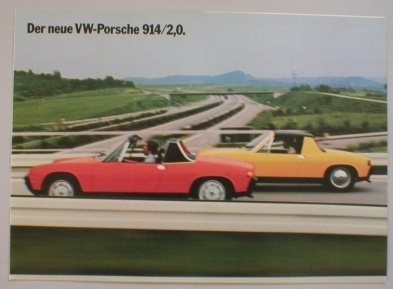 Broschyr Porsche 914 1973