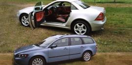 Mercedes-Benz plåtcab och Volvo V50