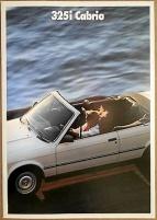 Broschyr BMW 325i Cabrio 1987