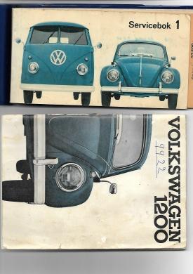 Volkswagen 1200 instruktionsbok servicebok