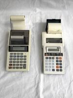 Elektroniska räknare med skrivare