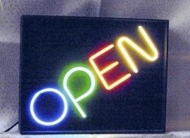 Neonskylt Open