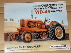Allis-Chalmers WD-45 lackerad plåtskylt