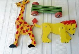 Giraff - Lejon - Vagn