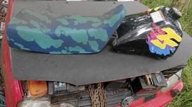 Moped Suzuki TS tank och sadel