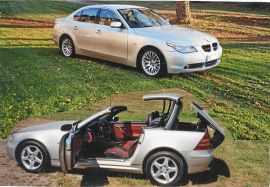 mobile_Välvårdade BMW 530 E60-61. MB plåtcab