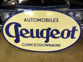 Peugeot emaljskylt 60-tal