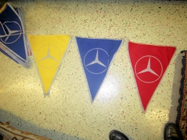 Mercedes flaggspel 22 st