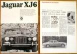 Broschyr + test av Jaguar XJ6 serie 1 1968