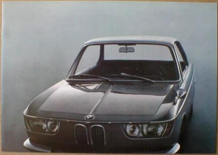 Broschyr BMW 2000CS 1966
