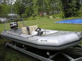 Ribbåt 4,00x1,70 m aluminium