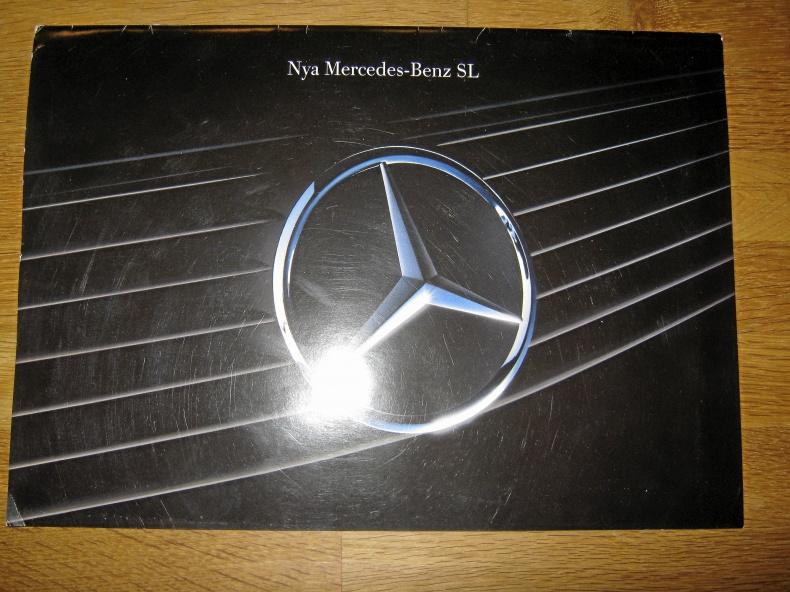 Försäljningsbroschyr Mercedes-Benz SL