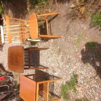 bord och pinnstolar 1 stämplad Edsbyn pinnstol