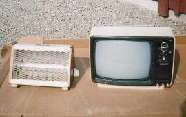 "TV 12"" Mach Svart-vit"