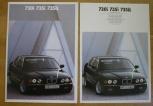 Broschyr BMW 730i 735i 735iL 1990