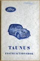 Ford Taunus instruktionsbok 1951