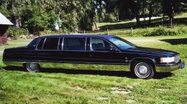 mobile_ Ska bort Cadillac Limo originalbil