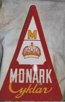 Emaljskylt Monark