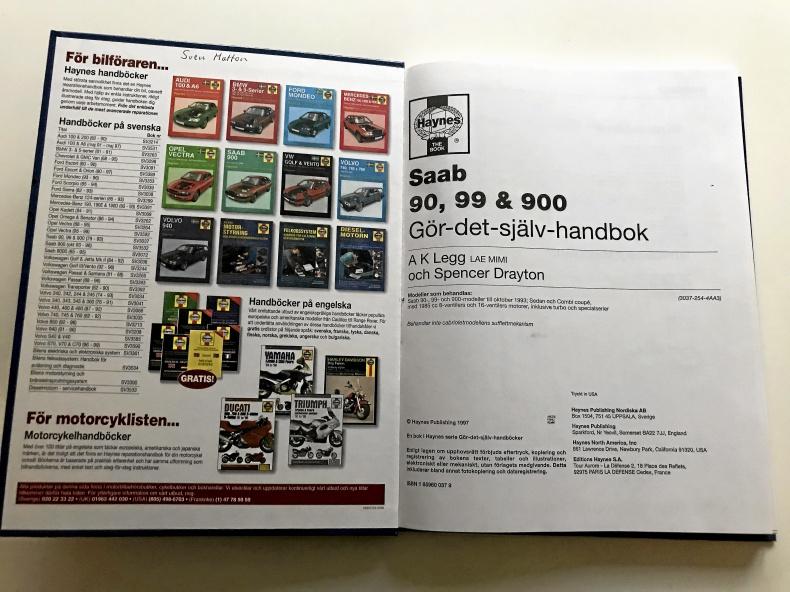 Haynes Gör-det-själv handbok till SAAB 90, 99, 900