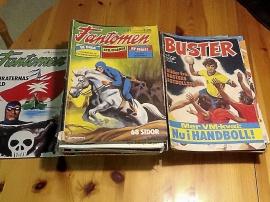 Gamla tidningar Fantomen och Buster