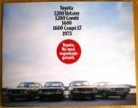 Broschyr Toyota samtliga modeller 1973