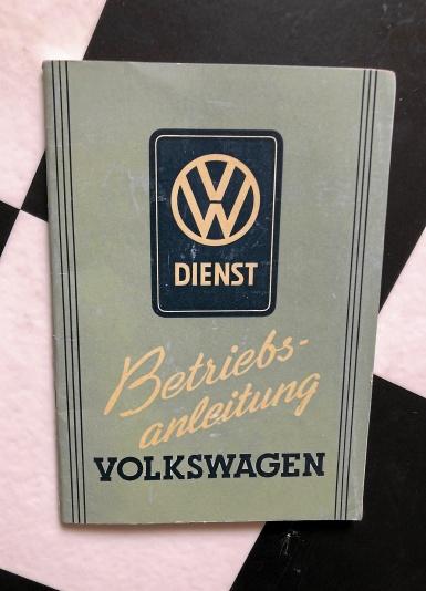 Manual för VW. 1950