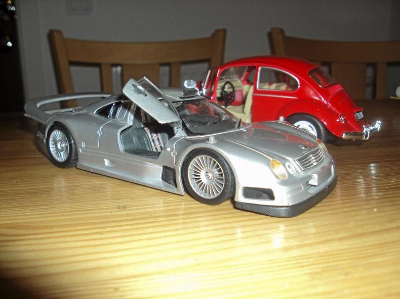 1:24 Mercedes  CLK-GTR  + VOLKSWAGEN Bubbla -67