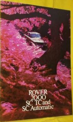 Broschyr Rover 2000 SC/TC 1973