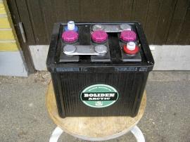 6-volt bilbatteri NOS