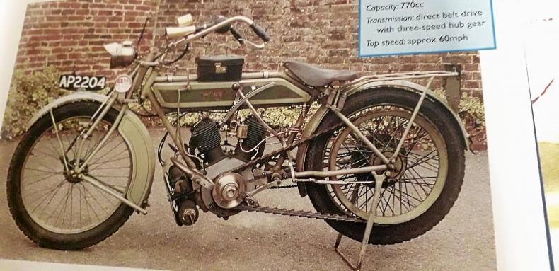 Gammal ram från 1910-talet