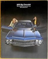 Broschyr Chevrolet full-size 1970