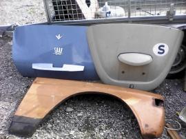 Motorhuv VW, Saab bagagelucka, volvo 73