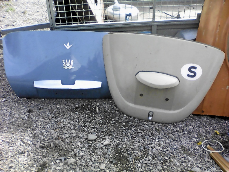 Motorhuv VW, Saab bagagelucka, skärm Volvo 140 -73