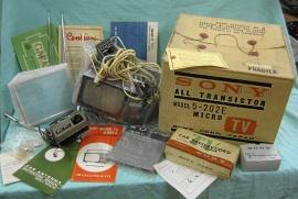 NOS 60-tals Sony Micro Bil TV 5 tum