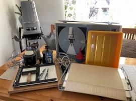 Mörkrumsutrustning Förstoringsapparat