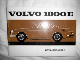 Volvo P1800E instruktionsbok