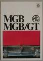 Broschyr MG MGB GT 1969 på svenska